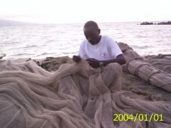 Mending nets...