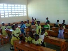 A kindergarten classroom...